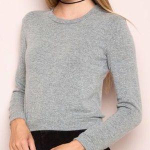 BRANDY MELVILLE Light Gray Super Soft Sweater